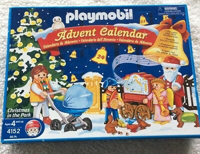Playmobil Toy Play Set 4152 Advent Calendar Christmas In The Park Holiday