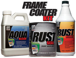 KBS FRAME COATER KIT - SATIN BLACK - #1 RATED RUST PREVENTION - STOP RUST PAINT