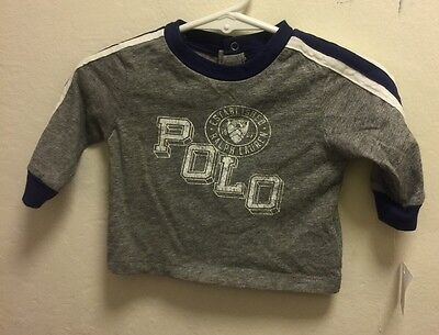 NWT POLO Ralph Lauren Baby Boys Long Sleeve T-Shirt Size:3months