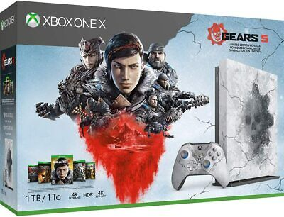 NEW Microsoft Xbox One X 1TB Gears 5 Limited Edition Gaming Console Bundle