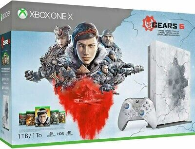 Microsoft XBOX ONE X 1TB Gears 5 Limited Edition 4K HDR Console + GoW 1 2 3 4