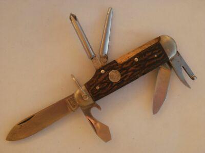 Pocket Knife original GERMANY Tree Brand 7594-R BOKER Solingen old vintage