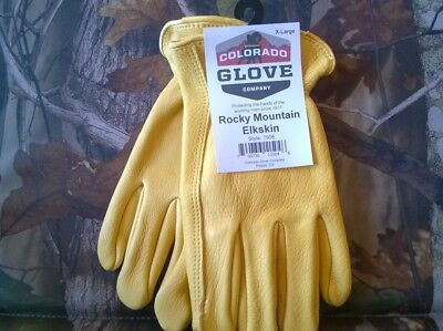 Colorado Glove Company Rocky Mountain Elkskin Work Riding Gloves Elk Leather