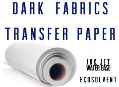 Inkjet Printable Heat Transfer Paper For Dark Fabrics Roll 24x50