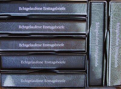Echt gelaufene Ersttagsbriefe! 7 Alben mit Einsteckhüllen für mehr als 700 FDC!