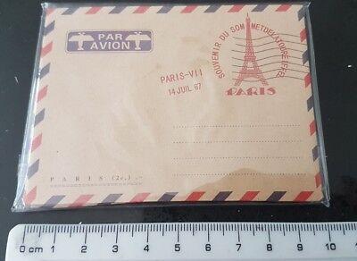 10 Vintage Envelopes Mini Retro Airmail Brown Kraft Paper PARIS DESIGN UK SHOP