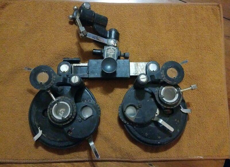 Antique Aditive Phoropter Optometrist Wellsworth DeZeng AO Rare Steampunk