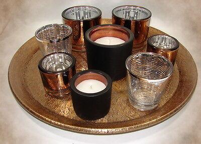 Windlicht / Teelichthalter / Glas *bronze*copper*schwarz*klar*Auswahl*Kerze