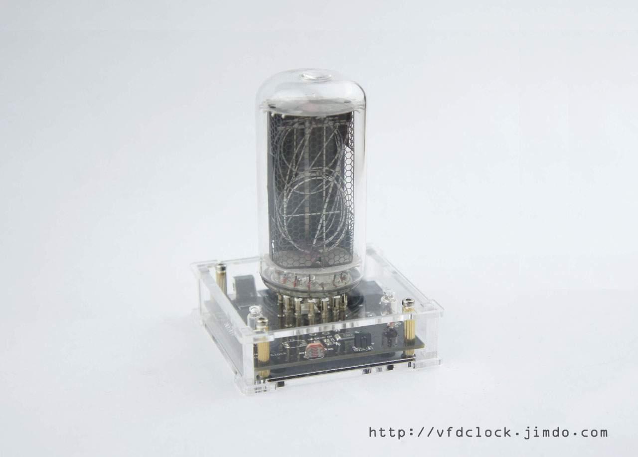 [*No Tube*]NEW-V2.0-USB Powered IN-18 Single Digit NIXIE Clock+Acrylic enclosure