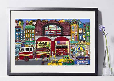 (NYC Firehouse Art Reproduction 8x10