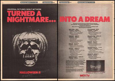 HALLOWEEN II__Original 1985 Trade print AD / poster__TV promo__JOHN CARPENTER (Halloween Ii Carpenter)