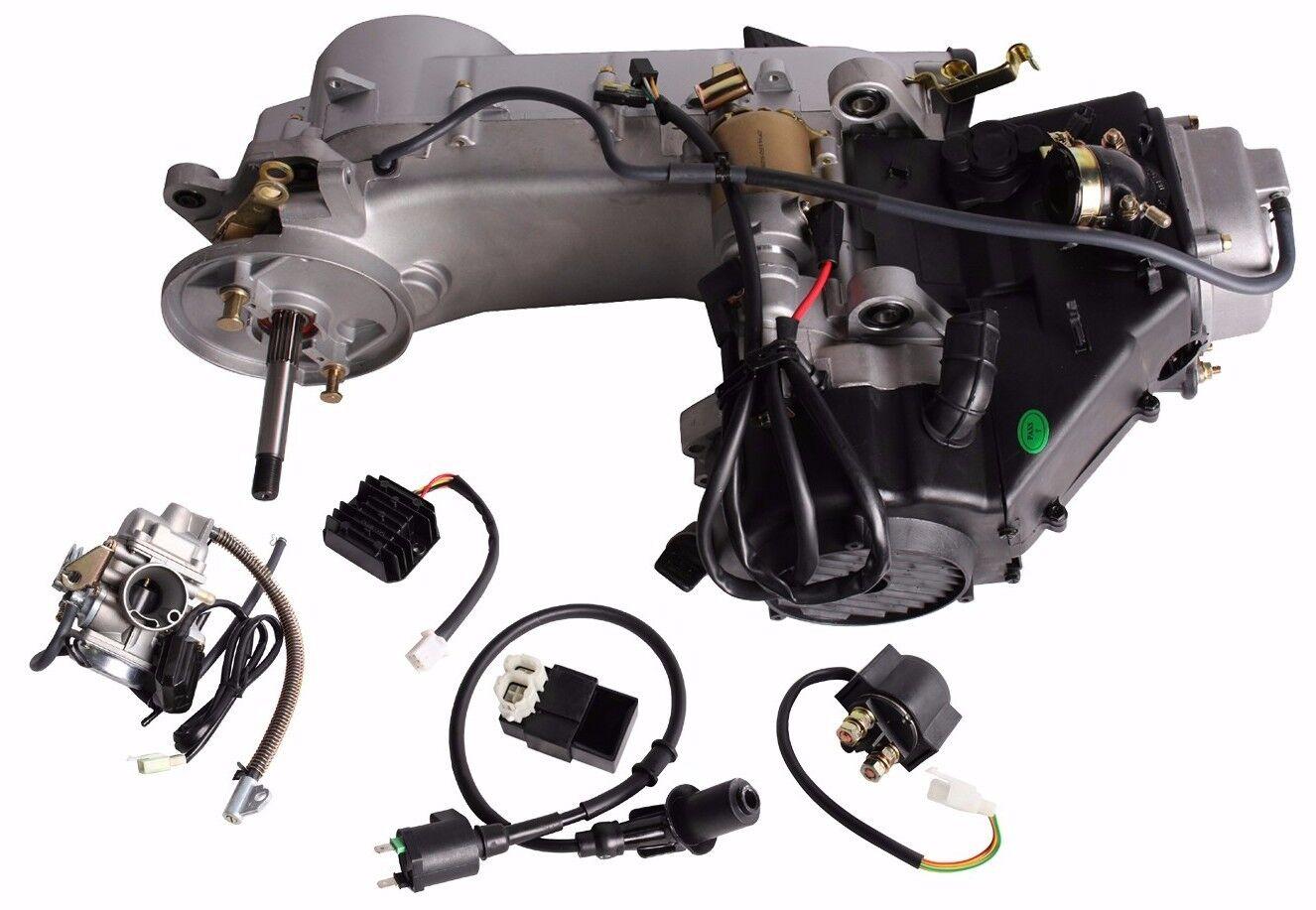 Long Case 150CC    GY6       Scooter    ATV GoKart Engine Motor    150    CVT Auto Carb Complete   eBay