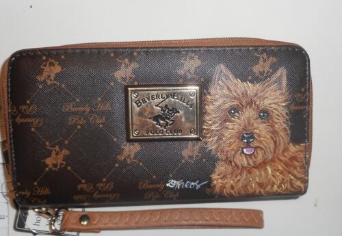 Red Norwich Terrier dog Wallet for Women Hand Painted Holds Cellphone