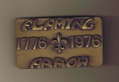Flaming Arrow Reservation 1976 Belt Buckle Cs