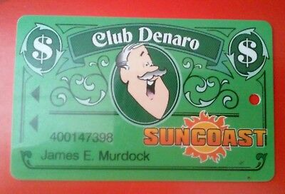 Suncoast Casino Las Vegas  Nevada Club Denaro Cpi Hard To Find Slot Card