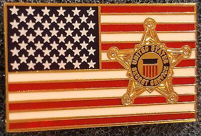 US Secret Service Flag Lapel Pin President Donald Trump Barack Obama White House