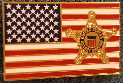 Secret Service Flag Lapel Pin President Donald Trump Barack Obama White House