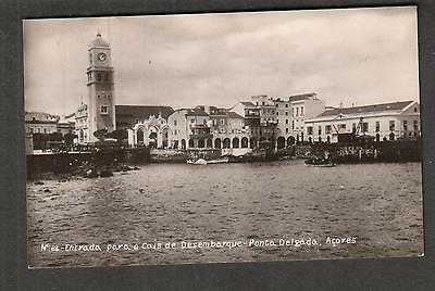 unmailed photo post card Ponta Delgado Azores Entrada para a Cais de Desembarque