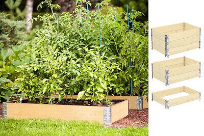 3x Palettenrahmen Aufsatzrahmen Hochbeet Gartenbeet 120 x 80 x 19,5cm Pflanzbeet
