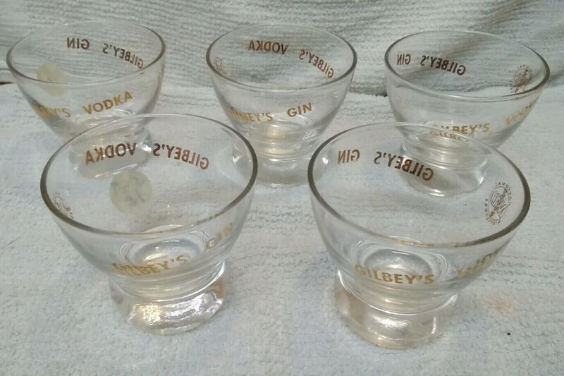 Set of 5 Gilbey