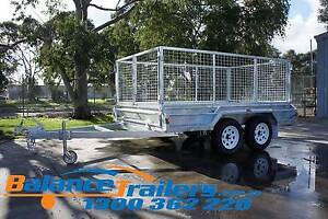 10x6 GALVANISED FULL WELDED TANDEM TRAILER WITH 900mm CAGE Kilsyth Yarra Ranges Preview