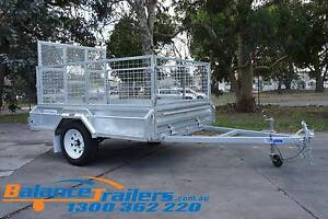 7×5 GALVANISED FULLY WELDED TIPPER TRAILER 600mm CAGE 1290mm RAMP