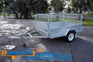7x5 GALVANISED FULLY WELDED TIPPER BOX TRAILER WITH 600mm CAGE Kilsyth Yarra Ranges Preview