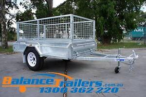7x4 GALVANISED FULLY WELDED TIPPER BOX TRAILER WITH 600mm CAGE