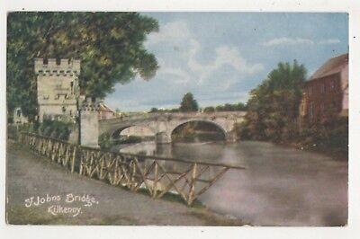 St Johns Bridge Kilkenny Ireland 1906 Postcard 744b