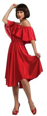 Adult 70s Saturday Night Fever Red Dress Disco Costume - Saturday Night Fever Red Dress