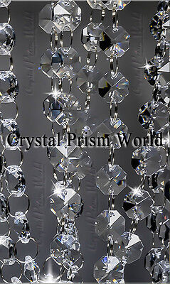 18ft Crystal Garland Chain Strands For Chandeliers, Weddings, Home Decor | New