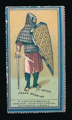 1888 N303 Mayos Holly Tobacco Costumes Of Warriors  Frank Warrior  Tough Type