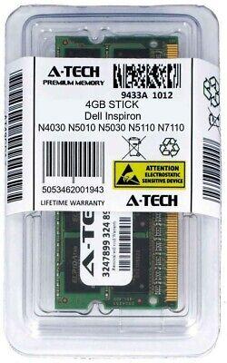 4GB SODIMM Memory RAM for DELL INSPIRON N4030 N5010 N5030 N5110 N7110 Q15R Q17R Inspiron Sodimm Memory