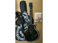 Xbox 360 Guitar Hero Les Paul Guitar, guitar bag and Guitar Hero III Legends of Rock Game
