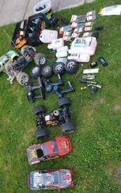 Traxxas t-max and hpi remote controle cars
