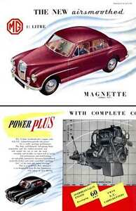 MG Magnette ZA (c1956) - The New Airsmoothed 1-1/2 Litre MG Magnette series ZA