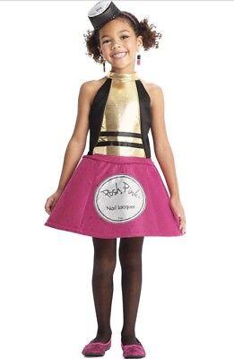Chasing Fireflies Halloween Costumes (Retired Chasing Fireflies Posh Pink Nail Polish Girl's Halloween Costume Size)