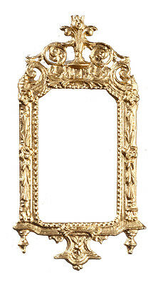 Gold Ornate Victorian Frame, Doll House Miniatures 1.12 Scale