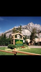 July 14-21,  a week at Banff Rocky Mountain Resort
