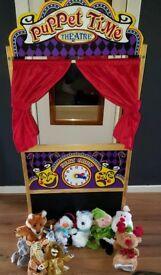 Melissa & Doug Deluxe Puppet Theater + Puppets
