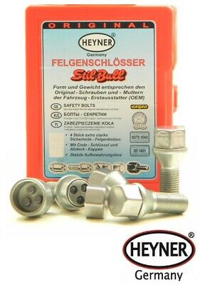X5 Heyner Germany Locking Wheel Nuts Set 4 Removal Key Car Security Locks Anti-theft