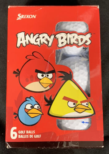 ANGRY BIRDS Golf Balls Srixon Half Dozen Kids Open Box