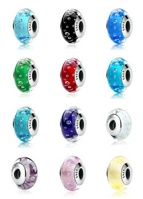 - 2018 NEW Design Authentic 925 Silver Murano Glass Beads Charm fit European Chain