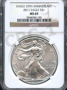 2011 25th Anniversary Silver Eagle