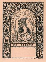 Ex Libris ,(??) , Con Gnomo Nella Foresta Splendido E Perfetto Vedi>> - splendid - ebay.it