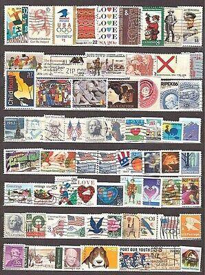 Die USA. Das große Lot verschiedener Briefmarken der USA. (66). Gestempelt. Sieh