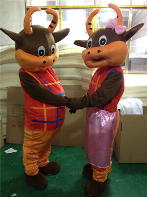 Halloween Adult Bull Mascot Costume Cosplay Party Game Dress Outfit Advertising