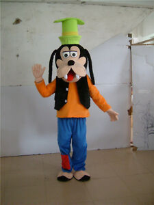 Hot Adults Birthday Party dress Goofy Costume Dog Mascot Parade Outfits Cosplay