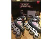 No Fear Inline ladies/girls skates Size 7