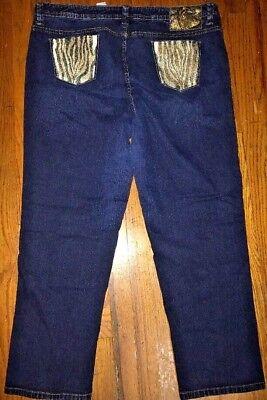 BABY PHAT Stretchy Denim Jeans with Sequin Zebra Pocket sz 24 24 Baby Denim Jeans